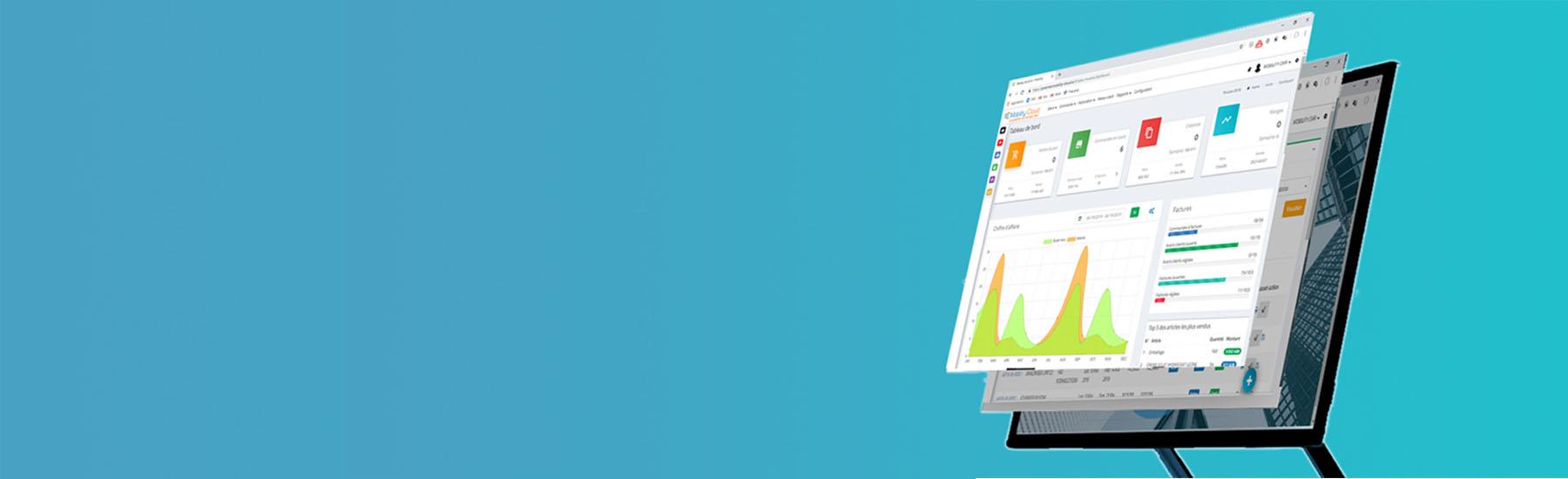 Dashboard logiciel gestion commercial